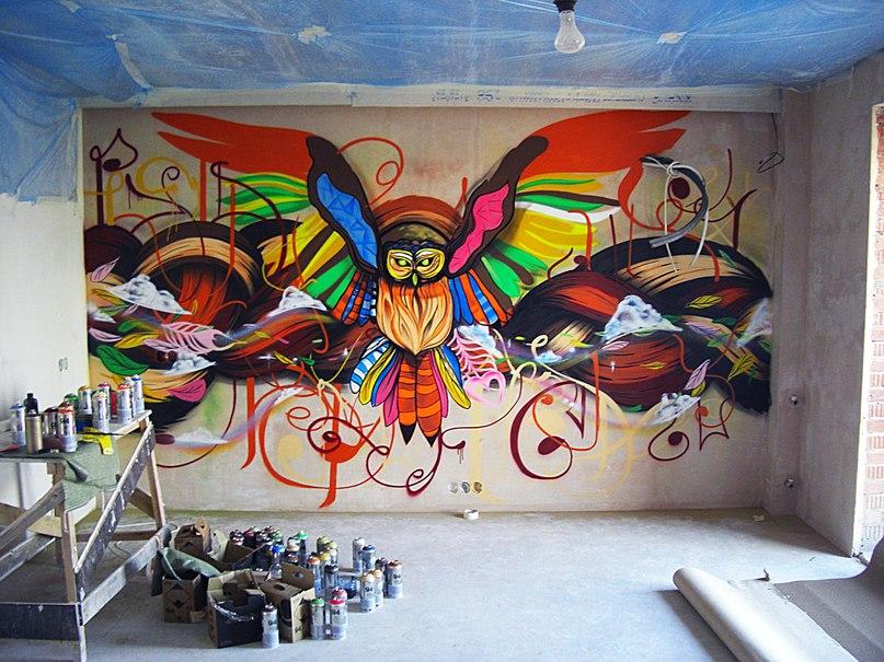 Граффити дома